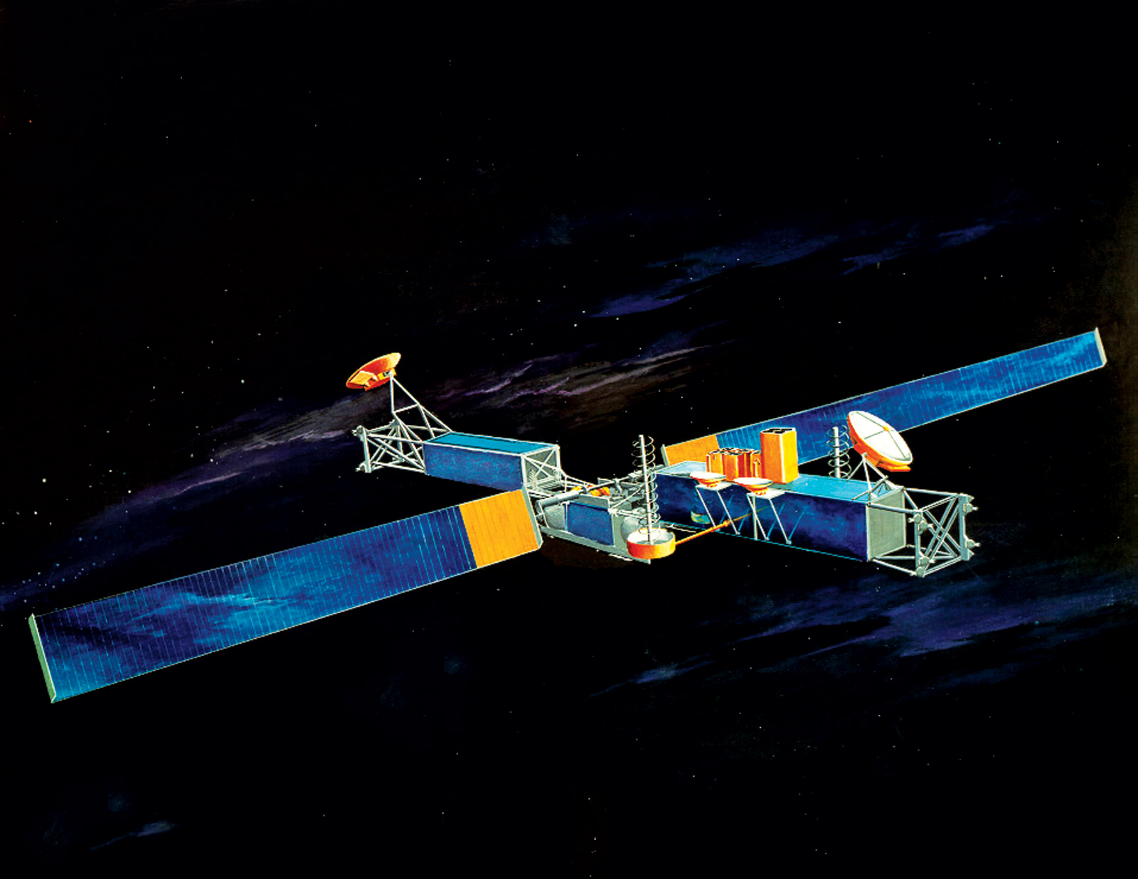 Illustration du satellite de communication Milstar